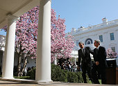 Judge Merrick B Garland and US President Barack Obama depart after Garland was nominated to the US Supreme Court in the Rose Garden at the White...