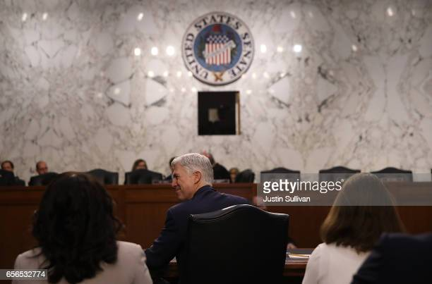 Judge Neil Gorsuch looks on during the third day of his Supreme Court confirmation hearing before the Senate Judiciary Committee in the Hart Senate...
