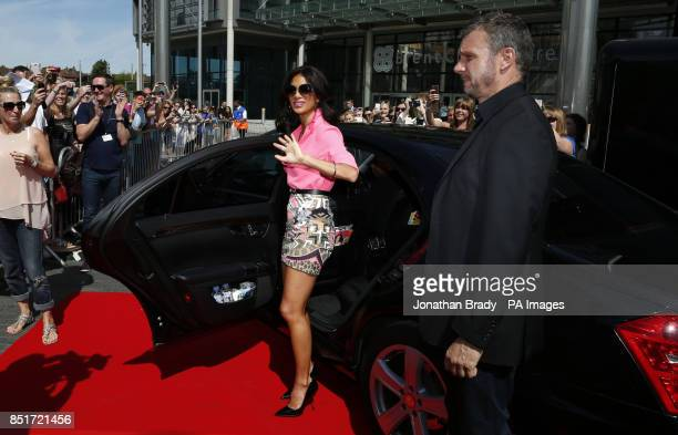 Judge Nicole Scherzinger arrives at Wembley Arena for the auditions of The X Factor the ITV1 talent show at London