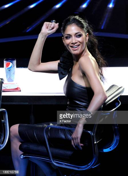 Judge Nicole Scherzinger at FOX's 'The X Factor' Top 10 to 9 Live Elimination Show on November 17 2011 in West Hollywood California