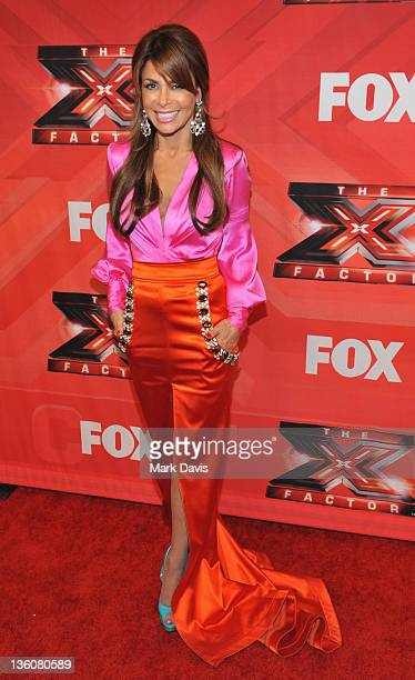 Judge Paula Abdul poses at Fox Television's 'The X Factor' Season Finale at CBS Television City on December 22 2011 in Los Angeles California