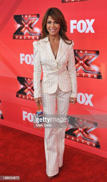 Judge Paula Abdul poses at The X Factor Press Conference at CBS Television City on December 19 2011 in Los Angeles California