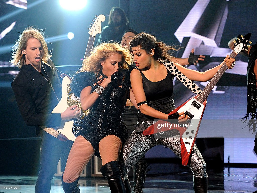 Judge Paulina Rubio performs on FOX's 'The X Factor' Season 3 Top 3 Live Finale Performance Show on December 18, 2013 in Hollywood, California.