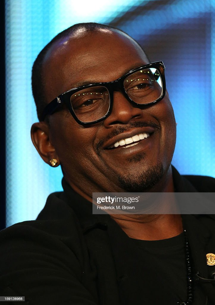 Judge Randy Jackson of 'American Idol' speaks onstage during the FOX portion of the 2013 Winter TCA Tour at Langham Hotel on January 8, 2013 in Pasadena, California.