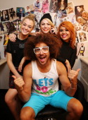 Redfoo And 'X Factor' Finalists Portrait Session