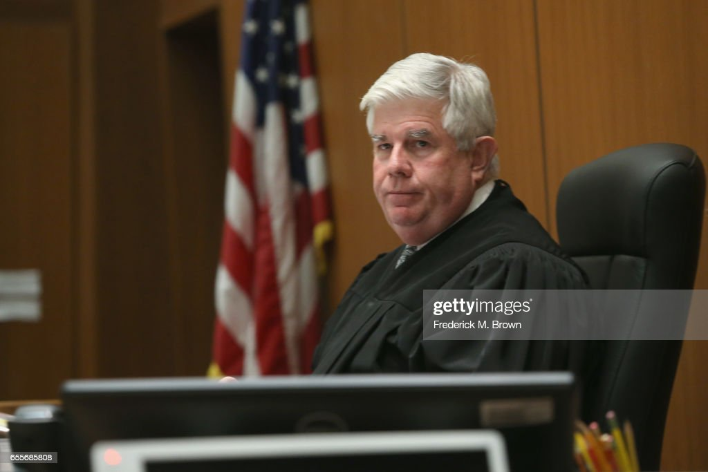 Judge Scott M. Gordon presides during a hearing for People v. Roman Polanski at Clara Shortridge Foltz Criminal Justice Center on March 20, 2017 in Los Angeles, California. Polanski has been a fugitive form the U.S court system for several decades when he left the country prior to sentencing for having sex with a minor in 1977.