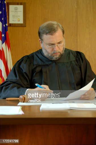 Judge Signs a Court Order