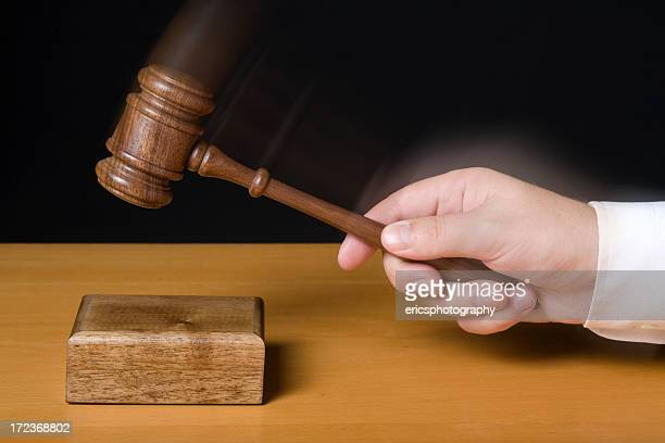 Judge using gavel motion