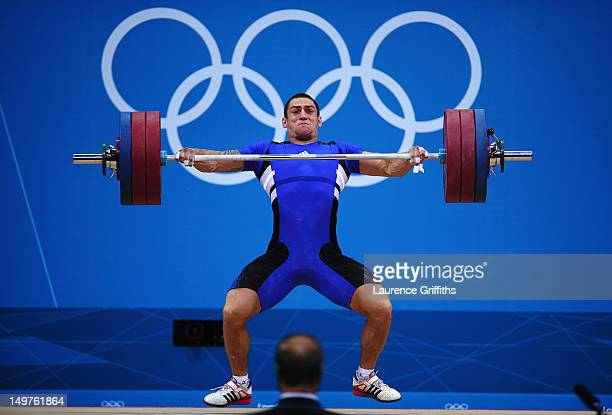 A judge watches Ivan Markov of Bulgaria compete during the Men's 85kg Weightlifting Final on Day 7 of the London 2012 Olympic Games at ExCeL on...