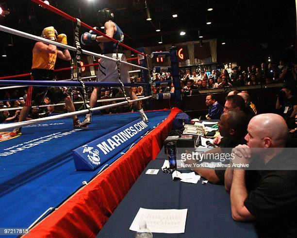Judge watches the action from ringside at the BB King Blues Club Thursday night where the Daily News Golden Gloves kicked off it's 81st year of...