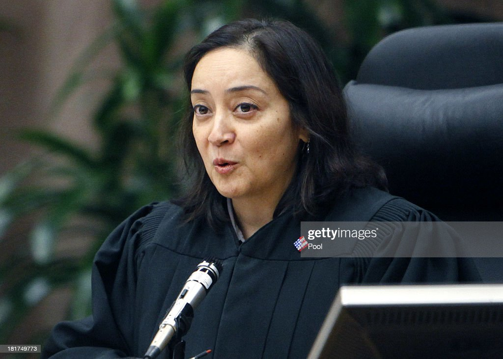 Judge Yvette M. Palazuelos during closing arguments in the Michael Jackson family lawsuit against AEG September 24, 2013 in downtown Los Angeles. Final arguments began today in the Michael Jackson wrongful death case which alledges that entertainment conglomerate AEG is liable in the pop star's 2009 death.
