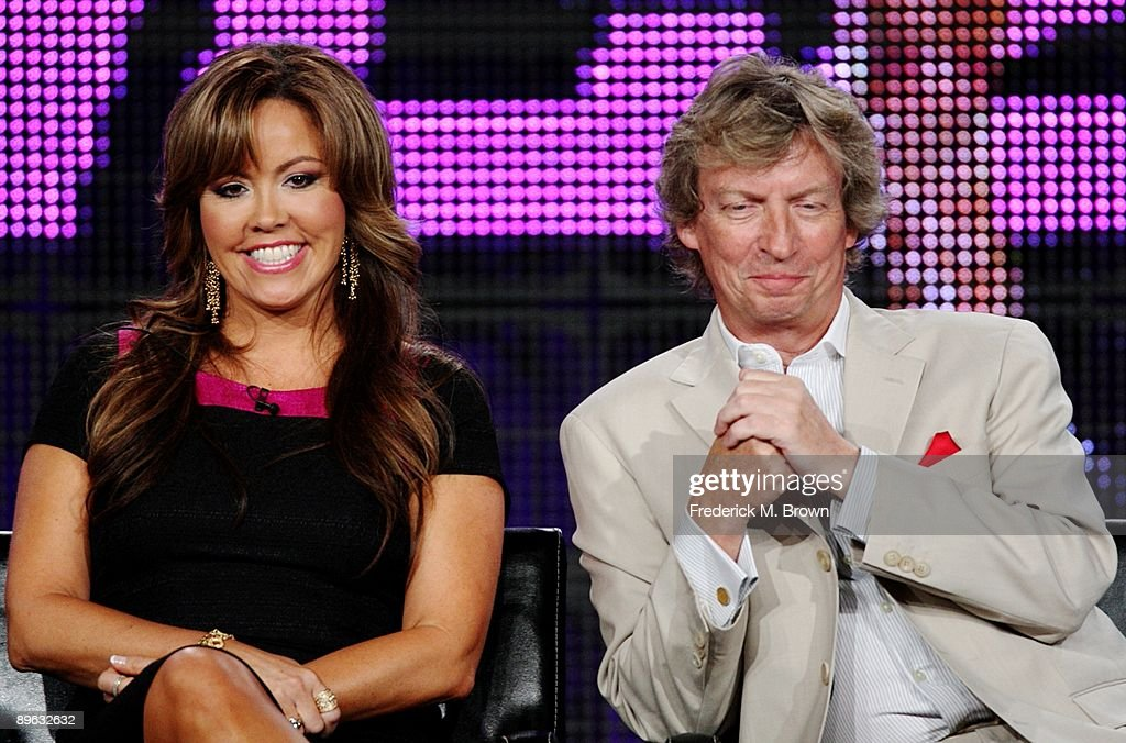 Judge/choreographer Mary Murphy and executive producer/judge Nigel Lythgoe of the television show 'So You Think You Can Dance' during the Fox Network...