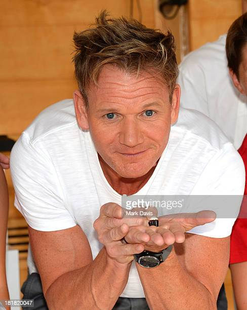 Judge/Executive Producer and award winning Chef Gordon Ramsay attends Fox's 'Masterchef Junior' Guinness World Records Official Attempt For The...