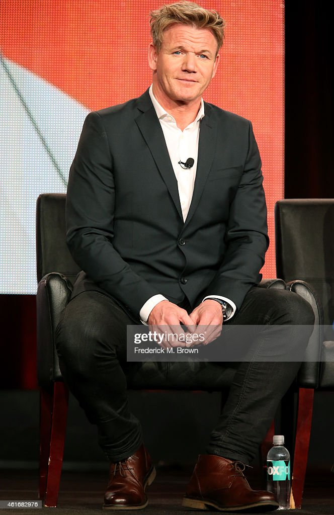 Judge/executive producer Gordon Ramsay speaks onstage during the 'MasterChef Junior' panel discussion at the FOX portion of the 2015 Winter TCA Tour...