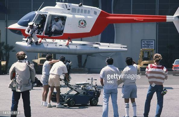 TEAM 'Judgement Day Part 1 2' Episode 1 2 Pictured Actors on set during a helicopter stunt Photo by NBCU Photo Bank