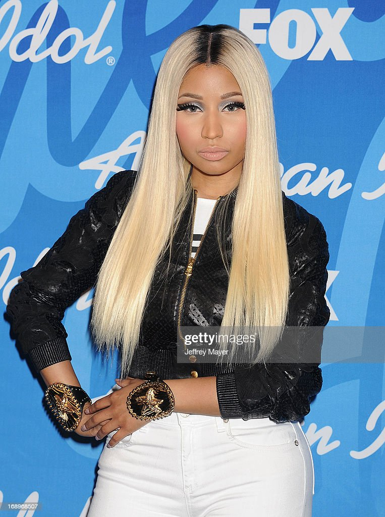 Judge/Rapper Nicki Minaj poses in the press room at FOX's 'American Idol' Grand Finale at Nokia Theatre L.A. Live on May 16, 2013 in Los Angeles, California.
