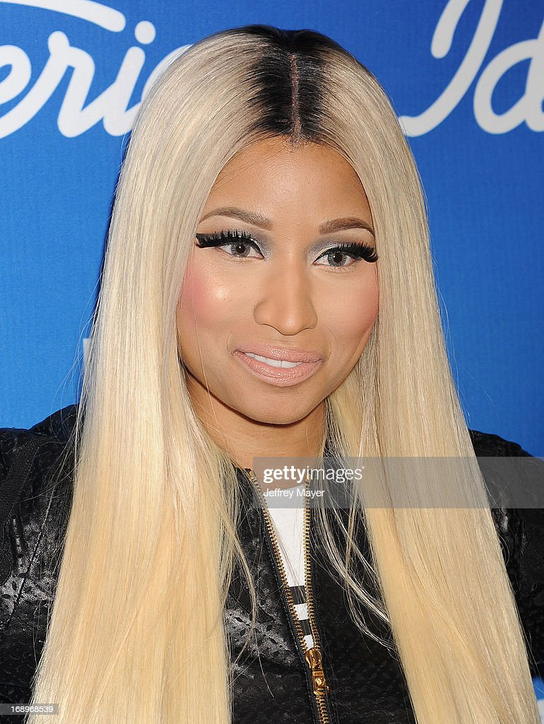 Judge/Rapper <a gi-track='captionPersonalityLinkClicked' href=/galleries/search?phrase=Nicki+Minaj+-+Performer&family=editorial&specificpeople=6362705 ng-click='$event.stopPropagation()'>Nicki Minaj</a> poses in the press room at FOX's 'American Idol' Grand Finale at Nokia Theatre L.A. Live on May 16, 2013 in Los Angeles, California.