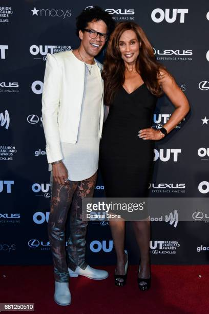 Judges Aaron Walton and Beverly Johnson attend the 2nd Annual OUT Fashion Vanguard Awards at Taglyan Complex on March 30 2017 in Los Angeles...