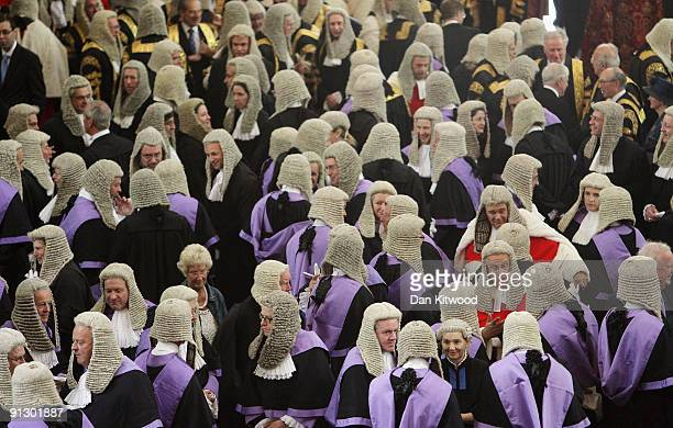 Judges arrive in Westminster Abbey on October 1 2009 in London England The ceremony marks the start of the legal year with a traditional religious...