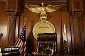 Judges chair in court room