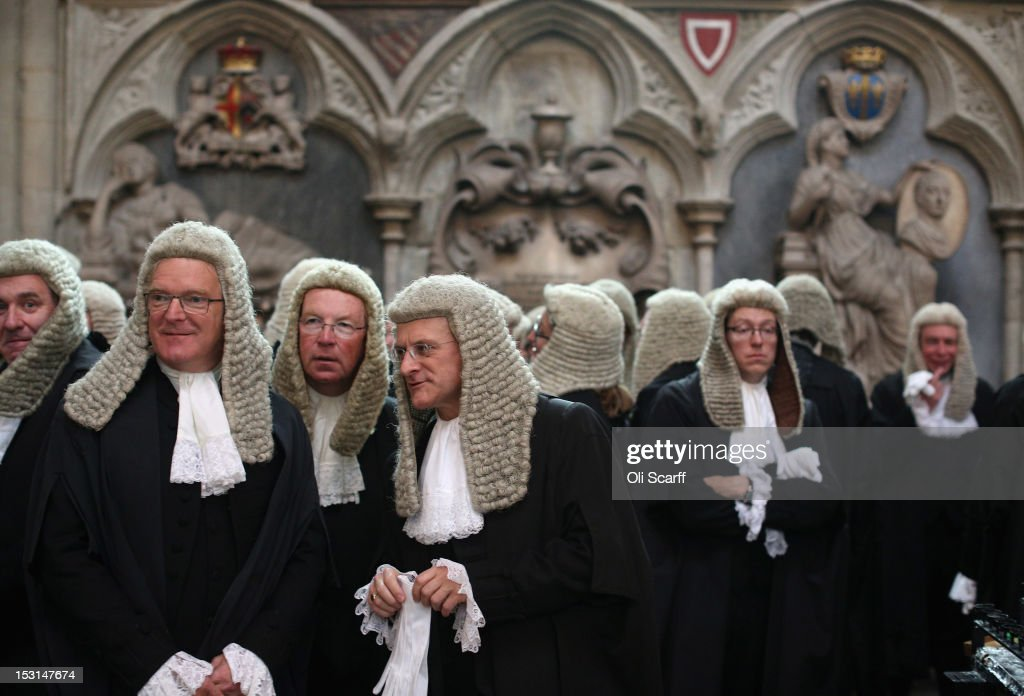 Judges congregate in Westminster Abbey before their Annual Service of Thanksgiving on October 1 2012 in London England The start of the legal year is...