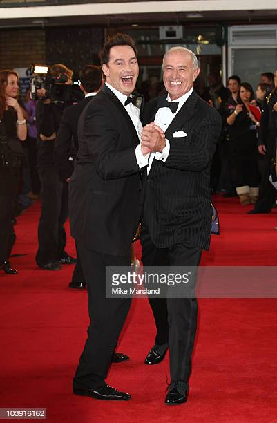 Judges Craig Revel Horwood and Len Goodman attend the 'Strictly Come Dancing' Series 8 Launch Show at BBC Television Centre on September 8 2010 in...