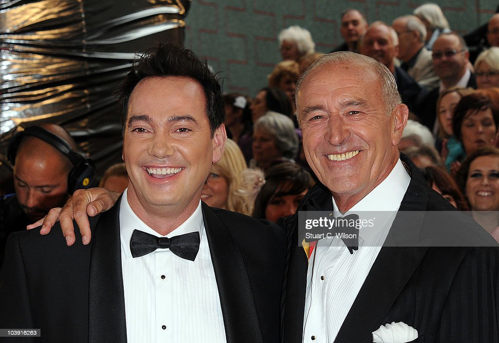 Judges Craig Revel Horwood (L) and Len Goodman attend the 'Strictly Come Dancing' Season 8 Launch Show at BBC Television Centre on September 8, 2010 in London, England.