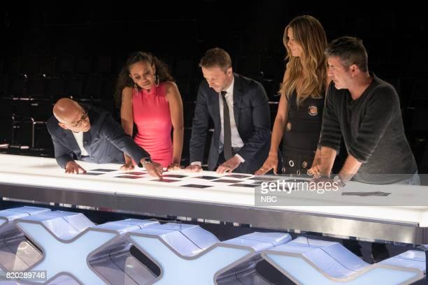 S GOT TALENT 'Judge's Cuts' Pictured Howie Mandel Mel B Chris Hardwick Heidi Klum Simon Cowell