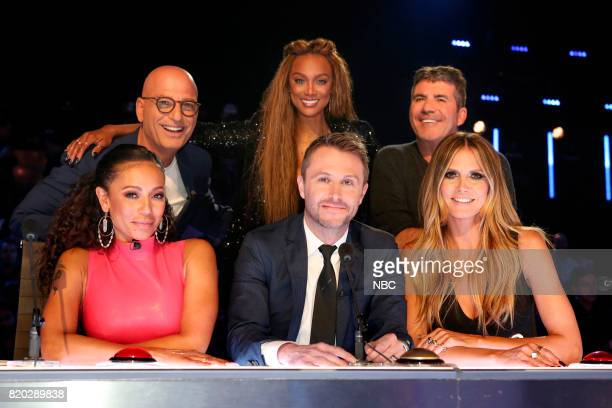 S GOT TALENT 'Judge's Cuts' Pictured Top Row Howie Mandel Tyra Banks Simon Cowell Bottom Row Mel B Chris Hardwick Heidi Klum