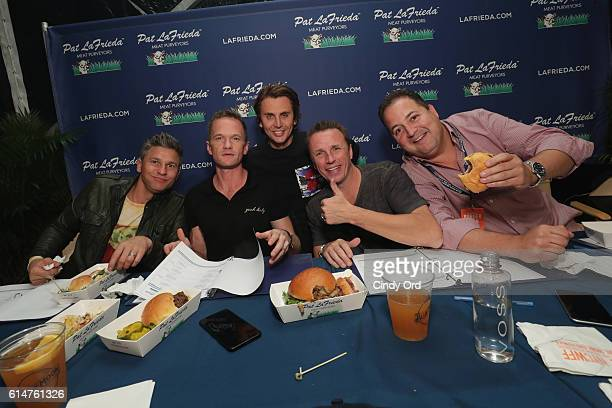 Judges David Burka Neil Patrick Harris Jonathan Cheban Marc Murphy and Josh Capon attend the Blue Moon Burger Bash presented by Pat LaFrieda Meats...