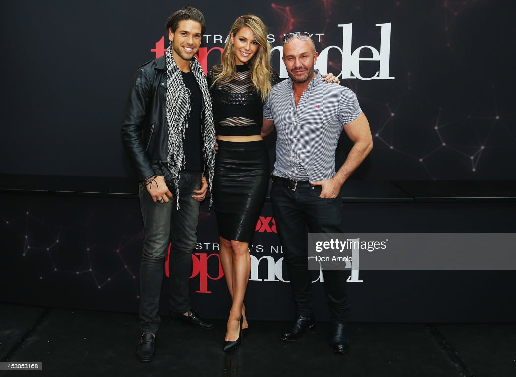 Judges Didier Cohen,Jennifer Hawkins and Alex Perry pose at Australia's Next Top Model auditions at Chatswood Chase Shopping Centre on August 2, 2014 in Sydney, Australia.