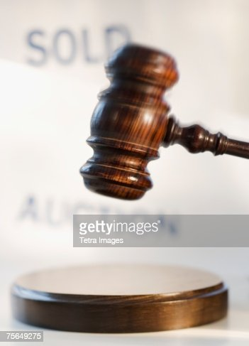 Judge's gavel at auction