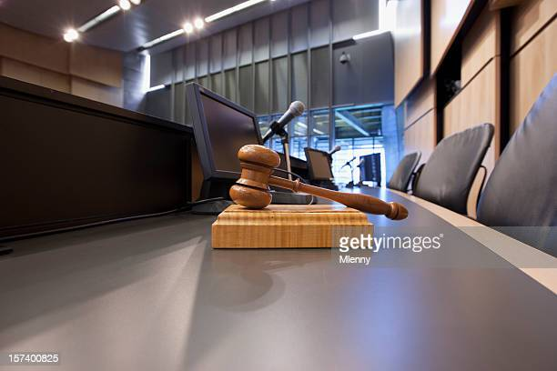 Judges Gavel in Courtroom
