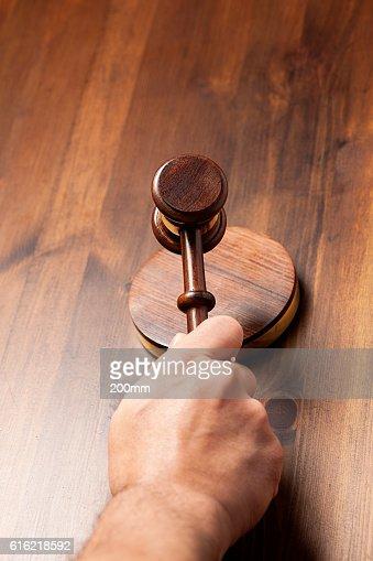 Judges gavel : Stock Photo