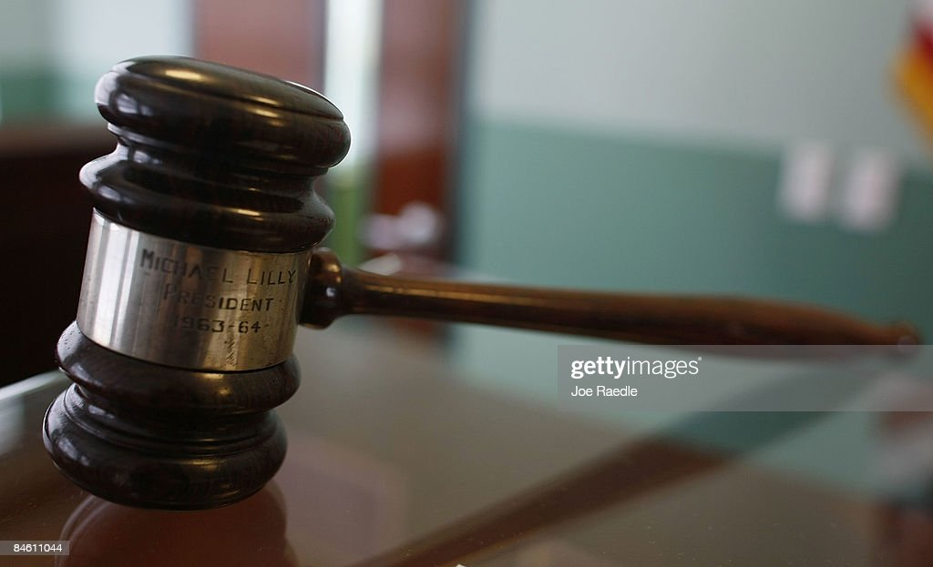 A judges gavel rests on top of a desk in the courtroom of the newly opened Black Police Precinct and Courthouse Museum February 3, 2009 in Miami, Florida. The museum is located in the only known structure in the nation that was designed, devoted to and operated as a separate station house and municipal court for African-Americans. In September 1944, the first black patrolmen were sworn in as emergency policemen to enforce the law in what was then called the 'Central Negro District.' The precinct building opened in May 1950 to provide a station house for the black policemen and a courtroom for black judges in which to adjudicate black defendants. The building operated from 1950 until its closing in 1963.