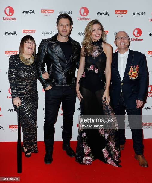 Judges Hilary Alexander OBE Paul Sculfor Abbey Clancy and Nicky Johnston attend Lifetime's launch of Britain's Next Top Model airing tonight at 9pm...