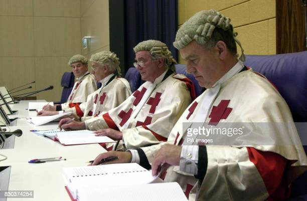 Judges in the Lockerbie trial court room in Camp Zeist Holland prepare for the longawaited case which starts against two Libyan men over the 1988...