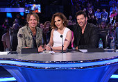 Judges Keith Urban Jennifer Lopez and Harry Connick Jr onstage at FOX's American Idol Season 15 on March 3 2016 in Hollywood California
