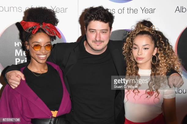 Judges Lianne La Havas Marcus Mumford and Ella Eyre attend The Hyundai Mercury Prize Nominations Announcement at The Langham Hotel on July 27 2017 in...