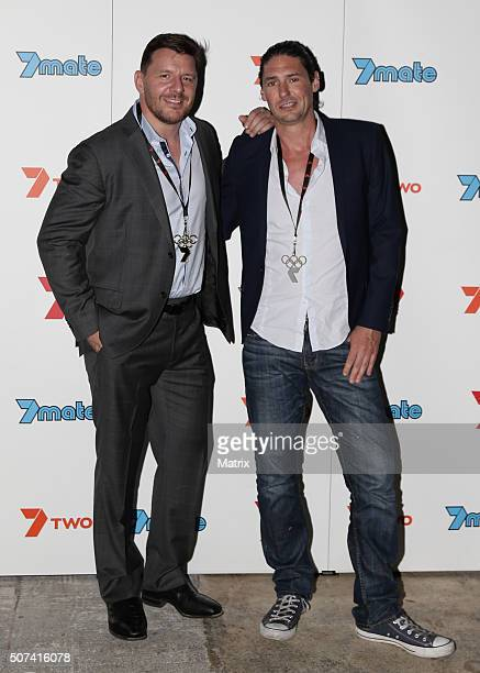 MKR Judges Manu Feildel and Colin Fassnidge at the MKR party launch on January 27 2016 in Brisbane Australia