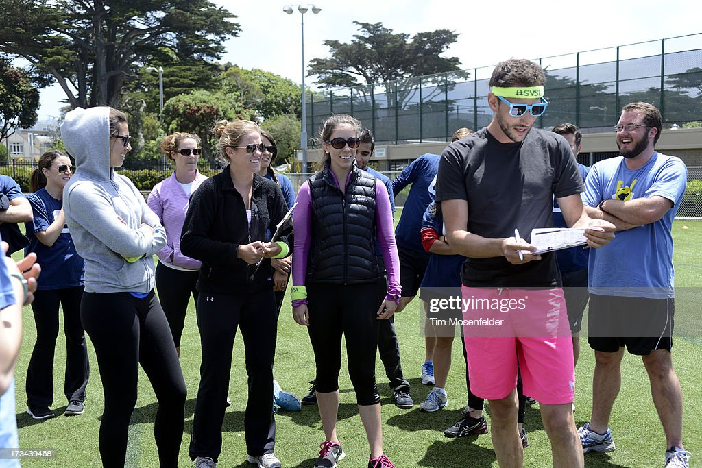 Judges meet at the Founder Institute's Silicon Valley Sports League on July 13, 2013 in San Francisco, California.