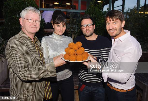 Judges of the Scotch Egg Challenge 2012 which aims to find the nation's finest scotch egg Chef Shaun Hill Gizzi Erskine food writer David Constable...