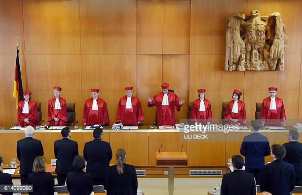 Judges of the Second Senate at the Federal Constitutional Court Christine Langenfeld Doris Koenig Peter Mueller Peter Huber Andreas Vosskuhle Monika...