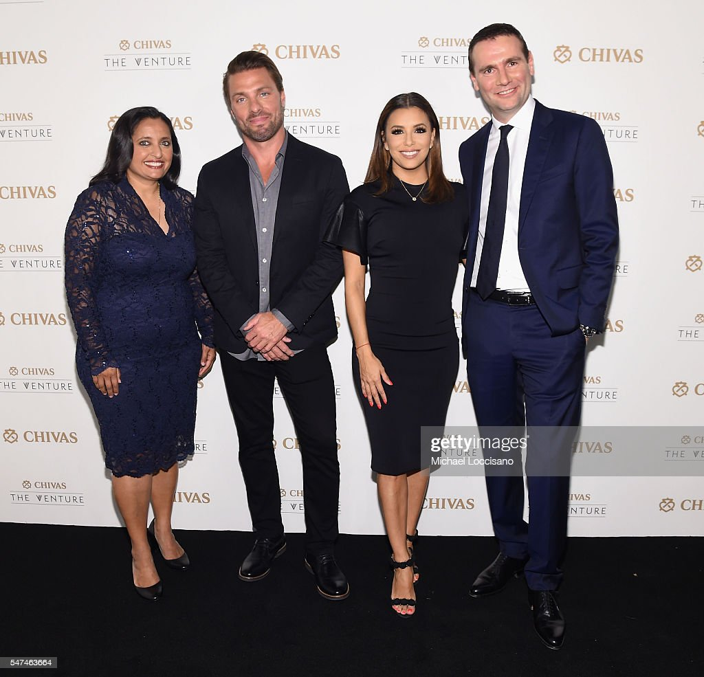 Judges, Sonal Shah, Joe Huff, Eva Longoria and Alexandre Ricard attend Chivas' The Venture Final Event on July 14, 2016 in New York City.
