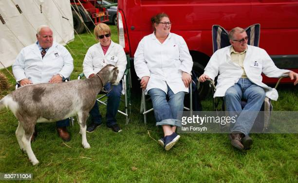 Judges take a break between events during the 194th Sedgefield Show on August 12 2017 in Sedgefield England The annual show is held on the second...