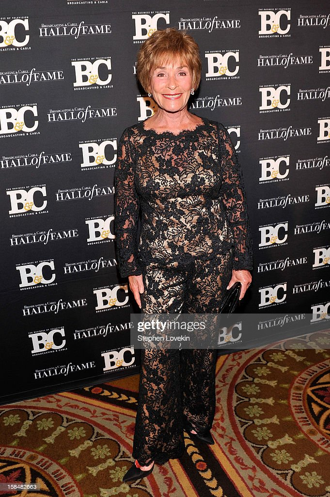 Judge/TV personality Judge Judith Sheindlin attends The 2012 Broadcasting & Cable Hall Of Fame Awards at The Waldorf=Astoria on December 17, 2012 in New York City.