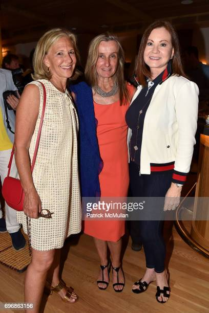 Judi Carom Giulia Dagnolo and Judith Giuliani attend Cocktails to Learn About The Sag Harbor Cinema Project at Le Bilboquet on June 16 2017 in Sag...