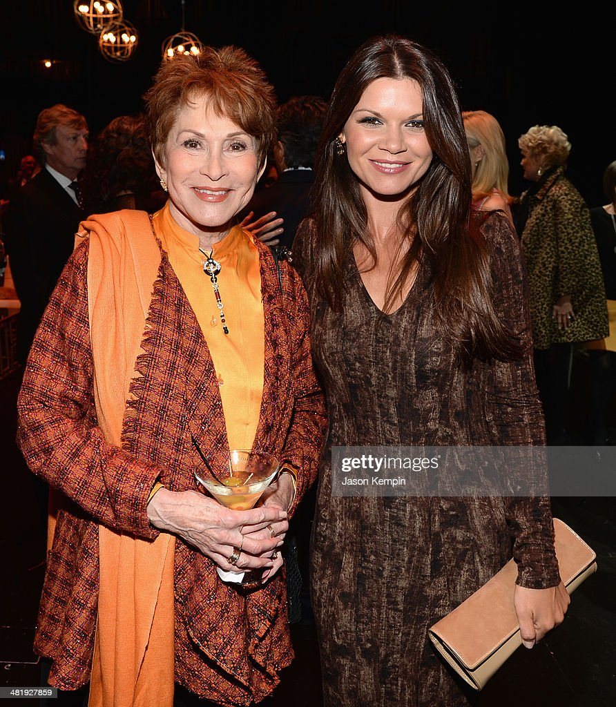 Judi Davidson and actress <a gi-track='captionPersonalityLinkClicked' href=/galleries/search?phrase=Danielle+Vasinova&family=editorial&specificpeople=732569 ng-click='$event.stopPropagation()'>Danielle Vasinova</a> arrive at The Music Center's 50th Anniversary Launch Party held at The Dorothy Chandler Pavilion on April 1, 2014 in Los Angeles, California.