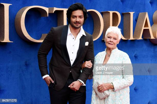 Judi Dench and Ali Fazal attend the 'Victoria Abdul' UK premiere at Odeon Leicester Square on September 5 2017 in London England