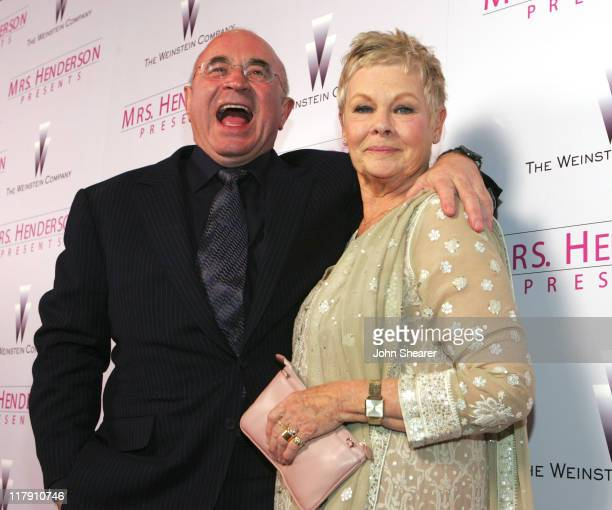 Judi Dench and Bob Hoskins during 'Mrs Henderson Presents' Los Angeles Premiere and After Party in Los Angeles California United States